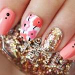 Дизайн ногтей с цветами Marimekko