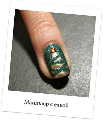 новогодний маникюр