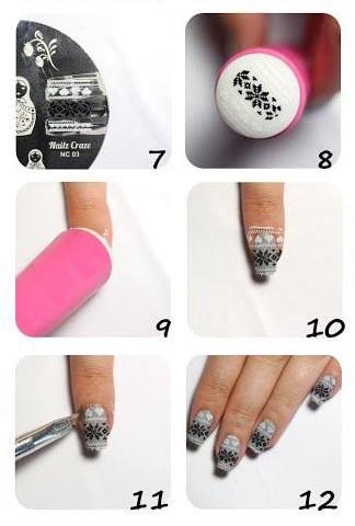 схема дизайна ногтей