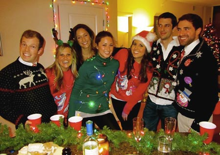 вечеринка в свитерах