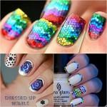 Блестящие ногти: 60 идей с фото