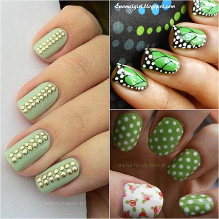 Ногти болотного цвета дизайн