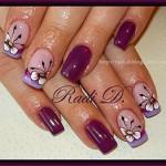 Роспись: цветы на ногтях
