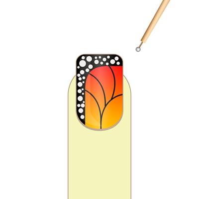 маникюр бабочка