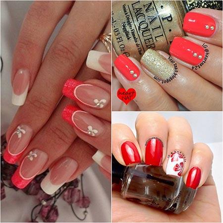 Красивые фото красных ногтей