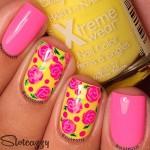 Яркая идея для коротких ногтей