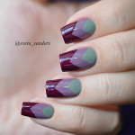 2 дизайна ногтей с трафаретами