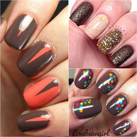 Ногти шоколадные дизайн