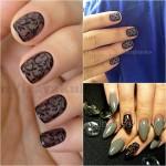 Прозрачный дизайн ногтей Вуаль