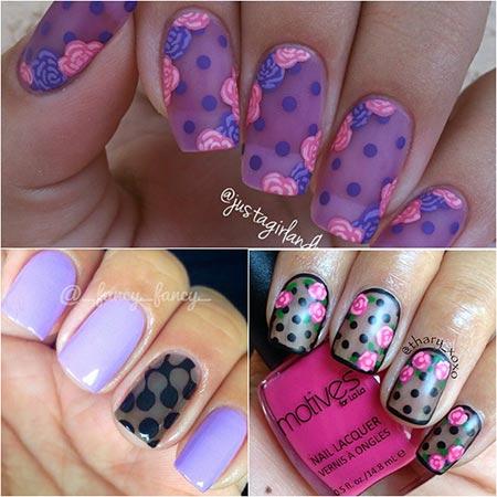 дизайн ногтей вуаль