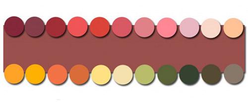 сочетание цвета марсала