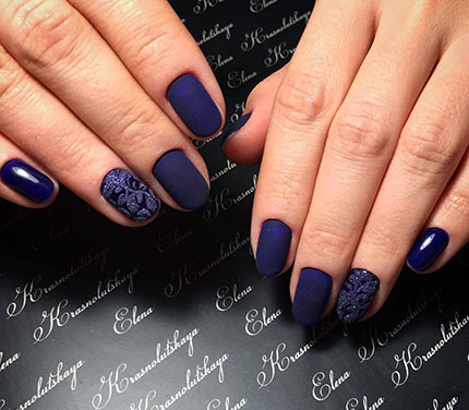 Матовый шеллак дизайн фото ногтей