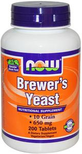 Now Brewer's yeast 650 мг 200 таблеток