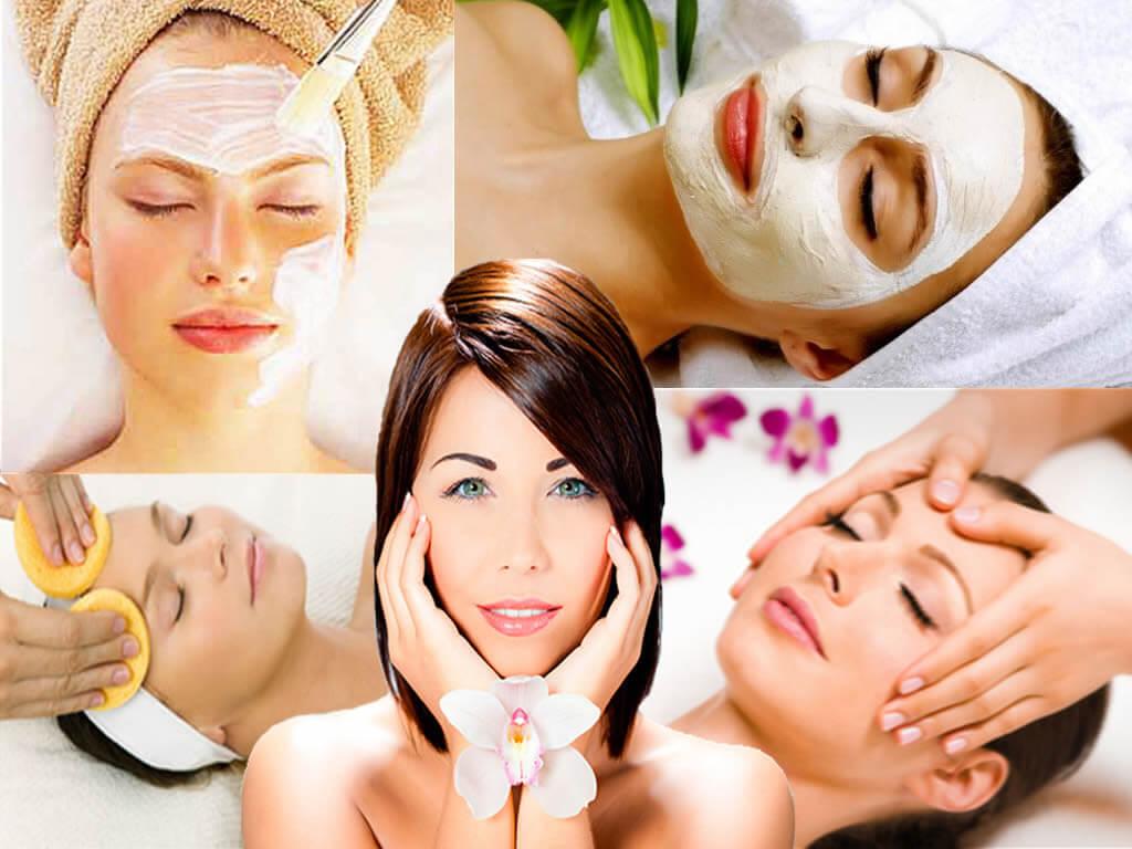 Уход за кожей в косметологическом салоне